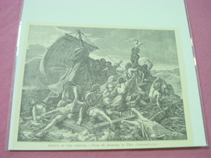 1889 Africa Illustrated Page Wreck of the Medusa