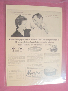 1955 Norelco Rotary Electric Shavers Ad