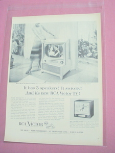 1954 New RCA Victor TV Ad