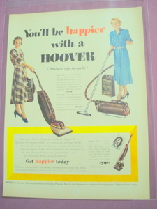 1949 Hoover Vacuum Color Ad 3 Models
