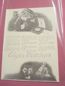 1919 Elgin Watches Ad A Timely Talk With Santa Watch
