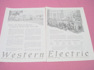 1919 Western Electric 2 Page Ad 50 Years Ago & Today