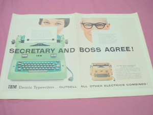 1955 IBM Electric Typewriter 2 Page Color Ad
