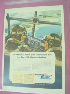 1943 Bendix Aviation Corporation Invisible Crew Ad-WWII