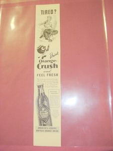 1944 Drink Orange-Crush Ad With Crushy