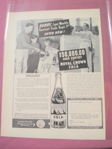 1949 Royal Crown Cola Contest Ad