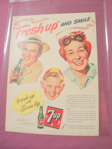 1943 Ad Fresh Up With Seven-Up 7-Up