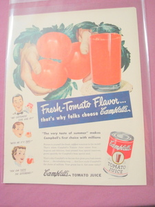 1949 Ad Campbell's Tomato Juice
