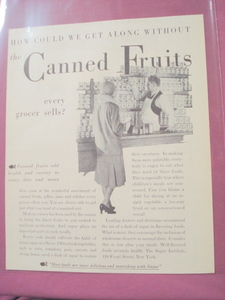1930 Sugar Institute Canned Fruits Ad