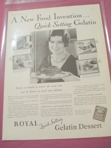 1930 Royal Gelatin Ad Quick Setting