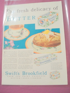 1930 Swift's Brookfield Butter Eggs Cheese Color Ad
