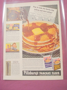 1941 Pillsbury's Pancake Flour, Buckwheat Flour Color Ad