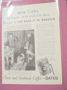 1930 Chase & Sanborn Coffee Ad Dated Coffee