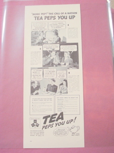1941 Tea Ad Tea Peps You Up! With Mr. T. Pott