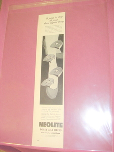 1955 Neolite Soles and Heels Ad Made By Goodyear