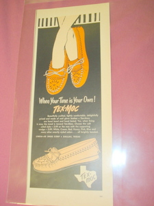 1955 Tex-Moc Moccasins Ad Linda Joe Shoe Corp. Dallas