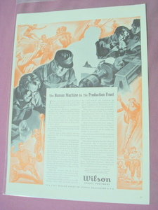 World War II Wilson Sports Equipment Ad WWII