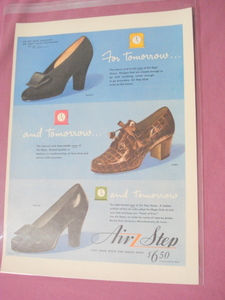 1943 Air Step Shoes Color Ad