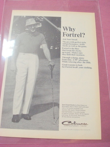 1964 Sam Snead Fortrel Slack Ad Golf