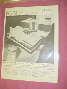 1930 Pond's Cold Cream Ad