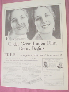 1930 Pepsodent Toothpaste Ad With Amos 'n' Andy