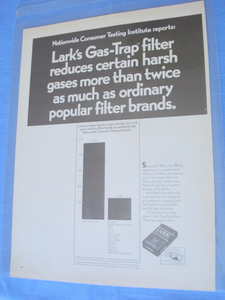 1969 Lark Cigarettes Gas-Trap Filter Ad
