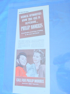 1944 Call For Philip Morris Cigarette Ad With Bellhop