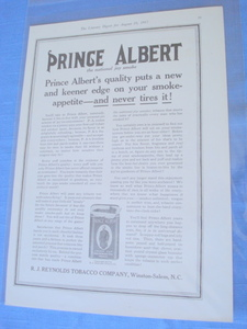 1917 Ad Prince Albert Tobacco-R. J. Reynolds Tobacco Co