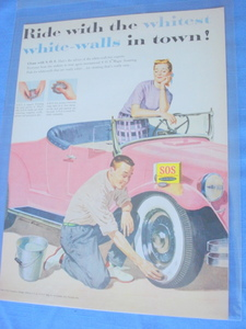 1955 S.O.S. Ride With The Whitest White-Walls Color Ad