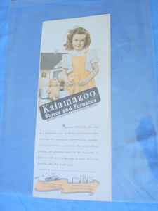 1943 Kalamazoo Stoves & Furnaces WWII Ad Dollhouse
