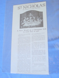 1919 Ad St. Nicholas Magazine For Boys and Girls