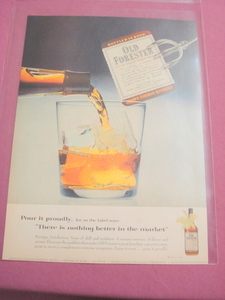 1955 Old Forester Kentucky Bourbon Whiskey Color Ad