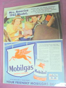 1942 Mobil Gas Mobil Oil Ad With Pegasus Horse