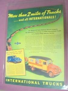 1949 International Trucks Color Ad Nabisco