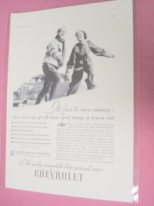 1936 Chevrolet Ad Featuring Master De Luxe Sedan