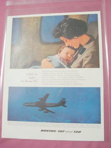 Boeing 707 and 720 Lullaby In Flight 1959 Airlines Ad