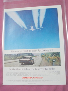 Boeing 707 720 727 Airlines 1961 Color Ad