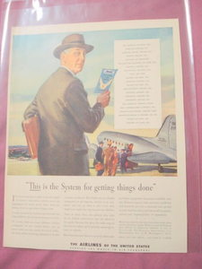 1944 The Airlines of the United States Color Ad