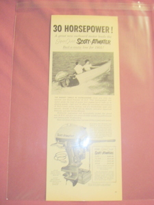 1955 Scott-Atwater Outboard Marine Motor Ad