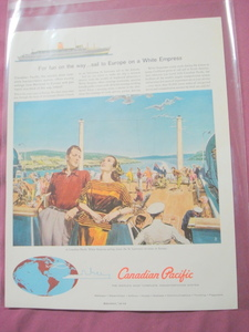 Canadian Pacific White Empress Ocean Liner 1960 Ad