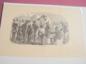 1880 Illustrated Page The Plantation Preacher