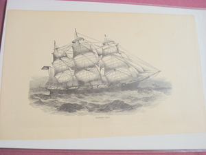 1880 Illustrated Page Clipper Ship