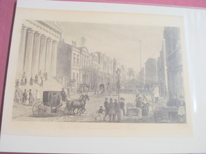 1880 Illustrated Page View of Wall Street