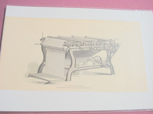 1880 Illustrated Page Cotton Shearing Machine