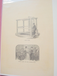 1880 Illustrated Page Hand Loom & Power Loom