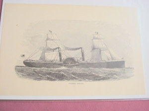 1880 Illustrated Page Steamer Adriatic