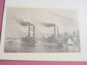 1880 One Page Illustration Mississippi Steamboats