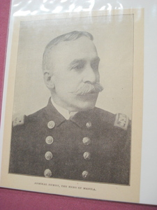 1898 Illustrated Page Admiral Dewey