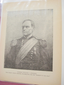 1898 Illustrated Page Civil War General Sherman