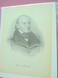 1898 Illustrated Page President John Quincy Adams